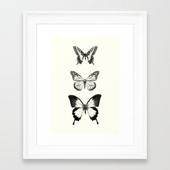 Butterflies // Align Framed Art Print