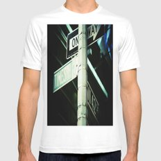 42nd White Mens Fitted Tee SMALL