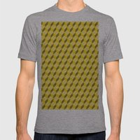 Staircase Pattern  Mens Fitted Tee Athletic Grey SMALL