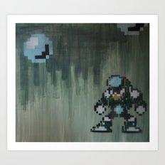 Crystal man (megaman 5) Art Print