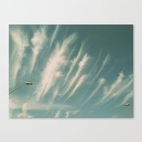 feather clouds Canvas Print