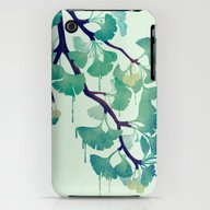 O Ginkgo (in Green) iPhone (3g, 3gs) Slim Case