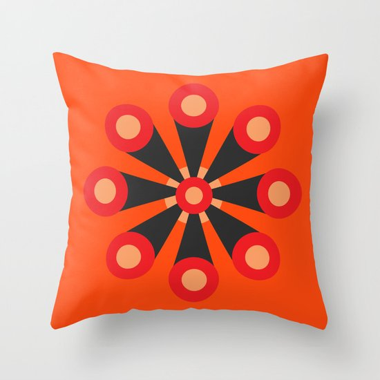 Flower Extract Throw Pillow
