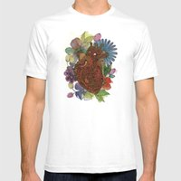 Heart Happy Mens Fitted Tee White SMALL