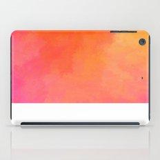 Texture orange kisses pink iPad Case