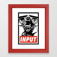 Obey Johnny 5 Framed Art Print