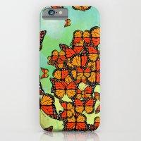 Monarch butterflies iPhone 6 Slim Case