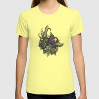 Little Bird Womens Fitted Tee Lemon SMALL
