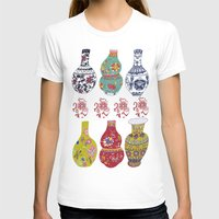 Chinese Pots Womens Fitted Tee White SMALL