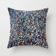 Blue Pebble Texture Throw Pillow