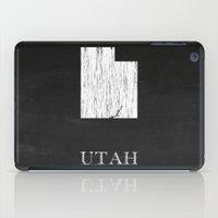 Utah State Map Chalk Drawing iPad Case