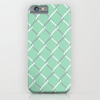 Chain Link On Mint iPhone 6 Slim Case