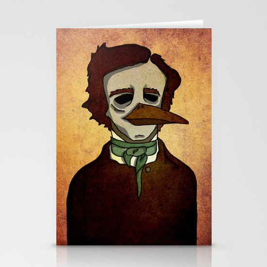 Prophets of Fiction - Edgar Allan Poe /The Raven Stationery Card