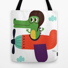 crocodile pilot Tote Bag