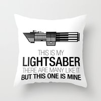This Is My Lightsaber (V… Throw Pillow