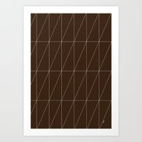 Brown Triangles By Frizt… Art Print