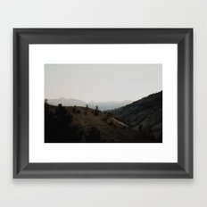 layers of the land - yellowstone Framed Art Print