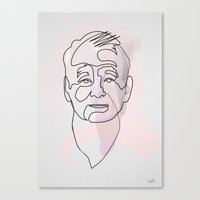 One Line Bill Murray Canvas Print