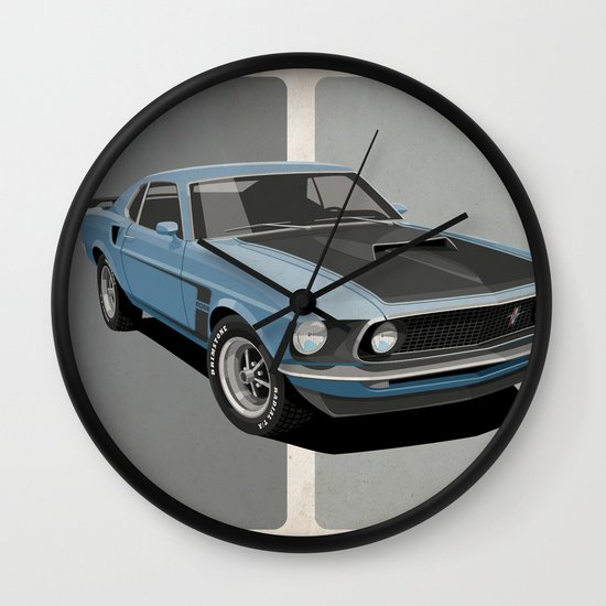 Ford Mustang Wall Clock