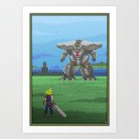 Pixel Art Series 13 : Th… Art Print