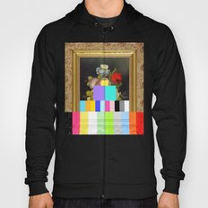 A Painting of Flowers With Color Bars Hoody