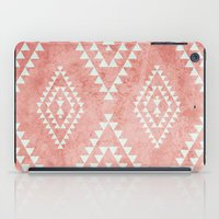 mint & coral tribal pattern (2) iPad Case