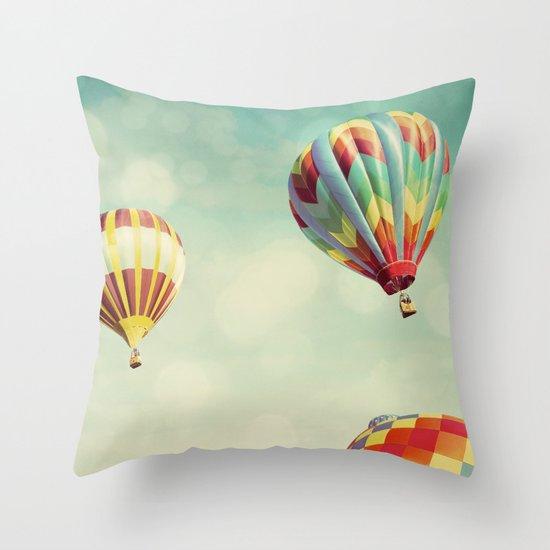 Perfect Dream - Hot Air Balloons Throw Pillow