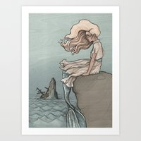 Art Print featuring Evolution of a Mermaid by jewelwing