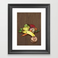 Fruit With Faces Framed Art Print