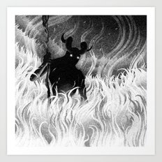 Drawlloween 2014: Devil Art Print