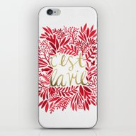 iPhone & iPod Skin featuring That's Life – Gold & R… by Cat Coquillette
