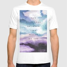 Stillness [Collaboration with Jacqueline Maldonado] Mens Fitted Tee SMALL White