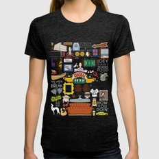 Collage Womens Fitted Tee Tri-Black SMALL