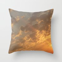 Sun in a corner Throw Pillow