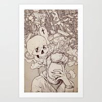 Self Destructive Persona… Art Print