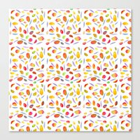 Rosaful Mango pattern Canvas Print