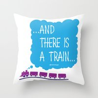TRAIN Throw Pillow