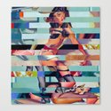 Glitch Pin-Up: Randi Canvas Print