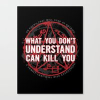 A Law To Live By Canvas Print