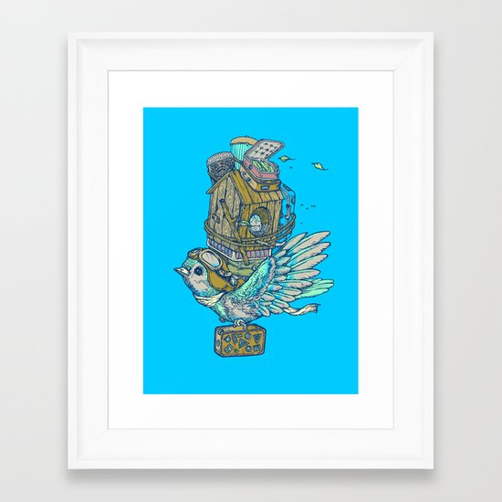 Bird Migration Framed Art Print