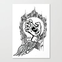 Screaming Klevra Canvas Print