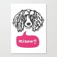 Some Dogs Are Bilingual Canvas Print