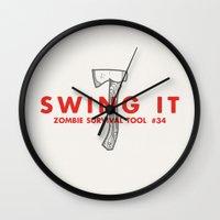 Swing It - Zombie Surviv… Wall Clock