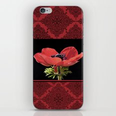 Red Anenome iPhone & iPod Skin