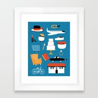 TRAVEL LIFE Framed Art Print