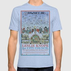 Leslie Knope for City Council - Parks and Recreation Dept. Mens Fitted Tee Athletic Blue SMALL