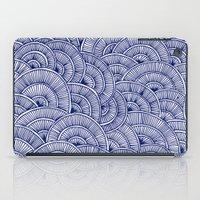 Swirls Blue iPad Case