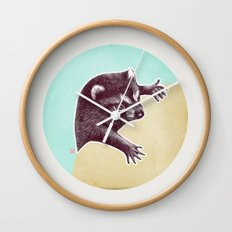 Climbing Raccoon Wall Clock