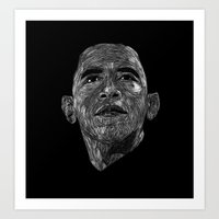 obama Art Prints featuring Obama by William