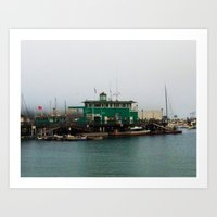 Docks Art Print